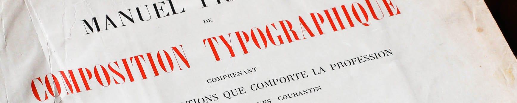 Manuel pratique de composition typographique de V. Breton