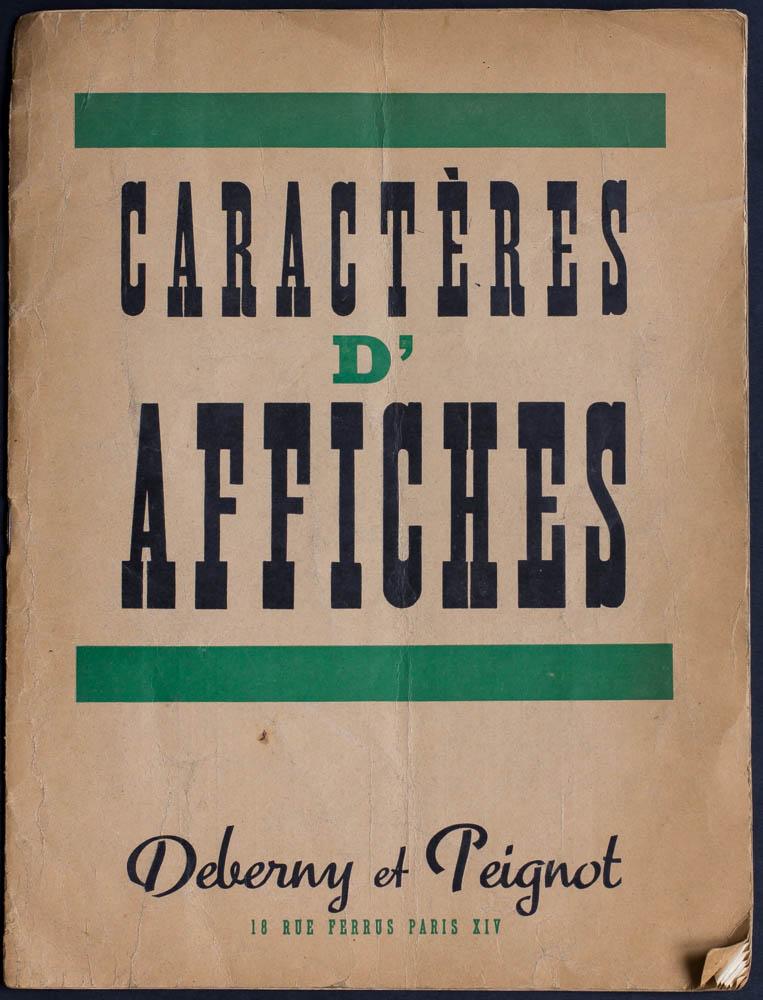 Spécimen des caractères d'affiches Deberny & Peignot